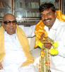 karunanidhi blessed Napoleon On his Birthday