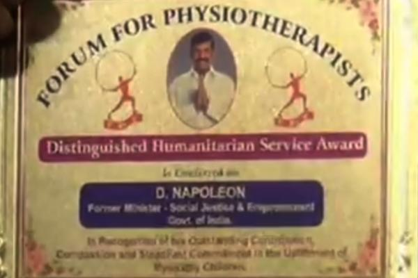 Distinguished Humanitarian service award