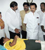 M.K. Stalin enquired in person about health condition of Union Minister D. Napoleon's son
